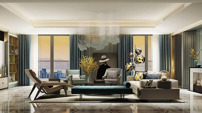 艮山府别墅装修设计,260平米现代风格效果图