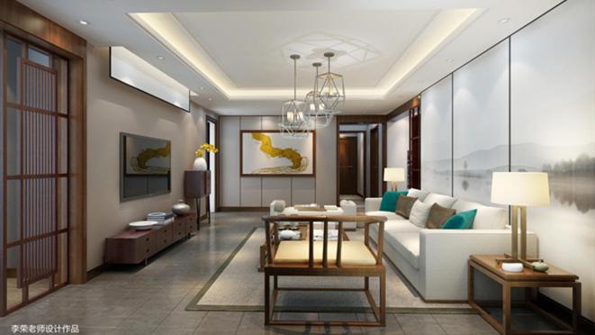 龙亭家园132平米新中式风格装修图