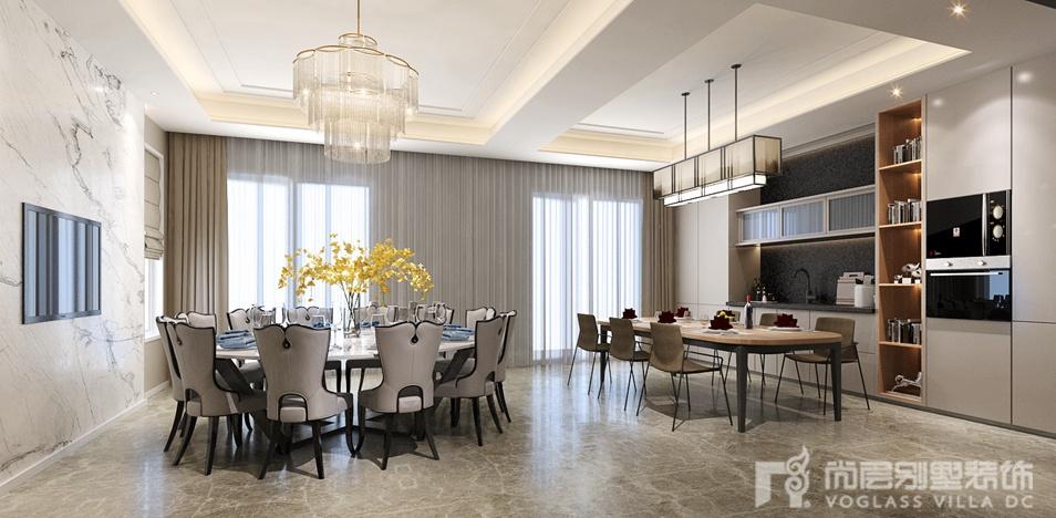 新中式风格别墅装修-餐厅