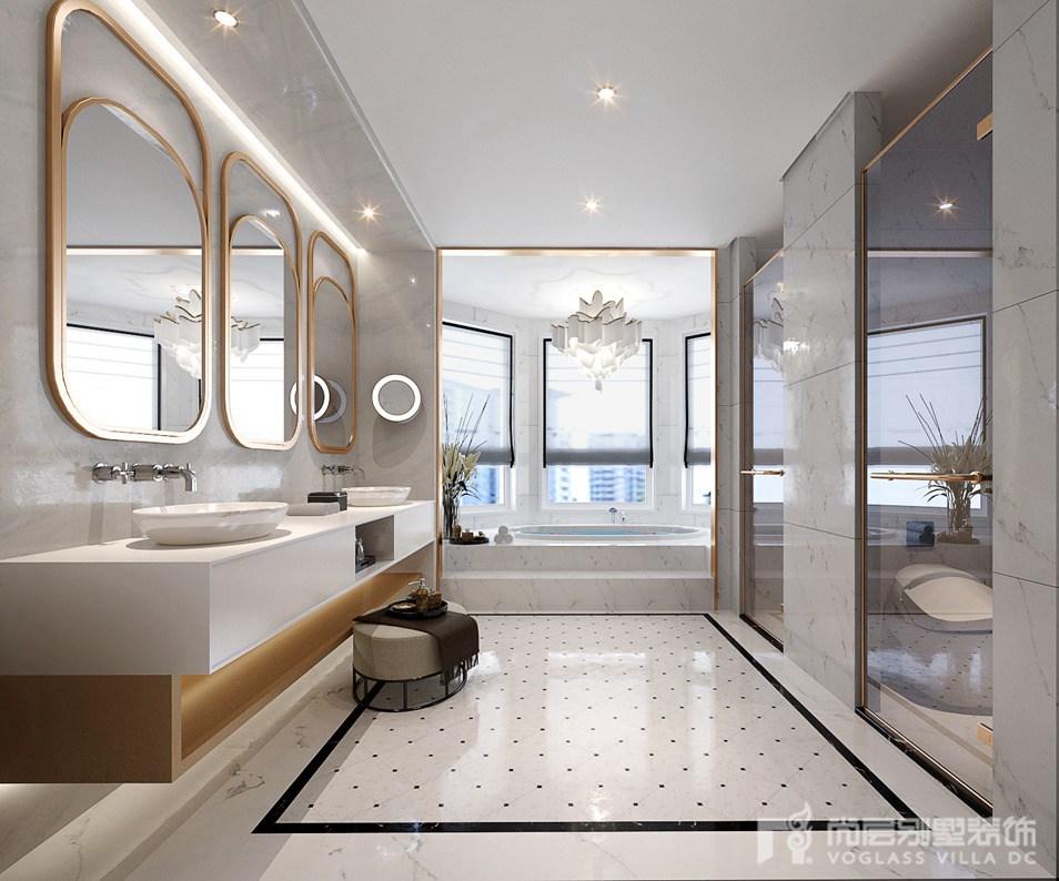 别墅装修设计卫生间效果图