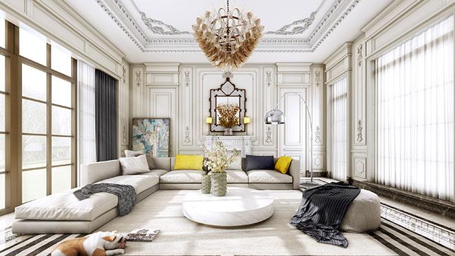 高贵奢华的法式独栋别墅装修设计