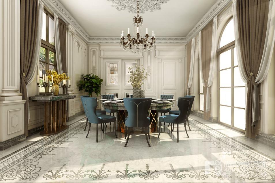 溪上玫瑰園裝修,法式風格獨棟別墅裝修設計