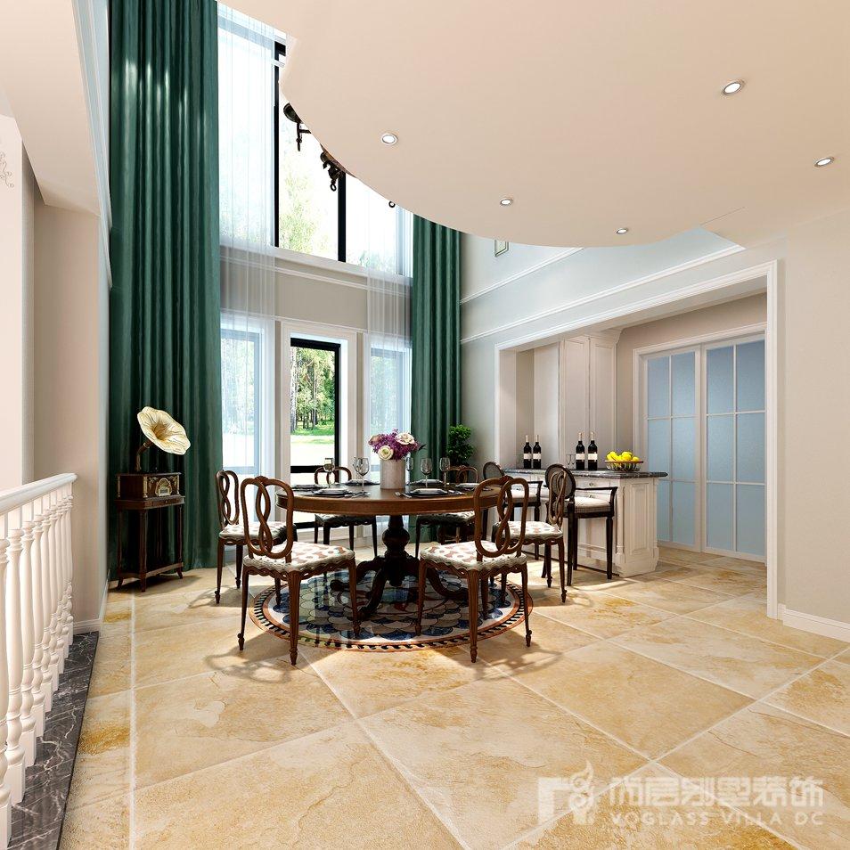 简约美式风格别墅装修设计效果图