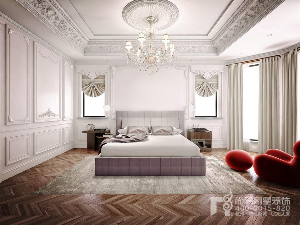 卧室欧式拱形吊顶