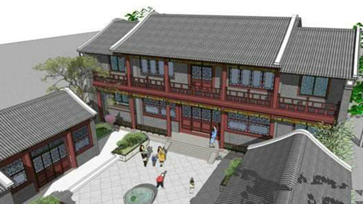 四合院别墅如何设计?新中式风格力造古色古香的中式情节