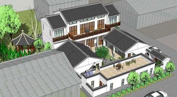 四合院别墅如何设计?新中式风格力造古色古香的中式情节图片