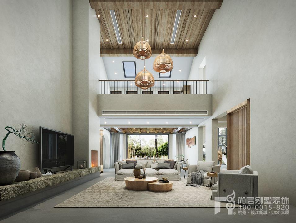 富春山居装修设计,自然主义风格效果图