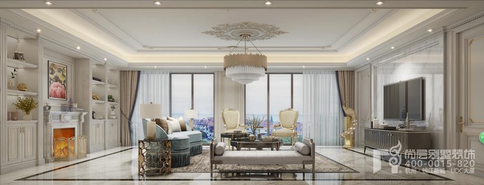 300平米法式轻奢风格,法式轻奢风格别墅装修,法式轻奢风格效果图
