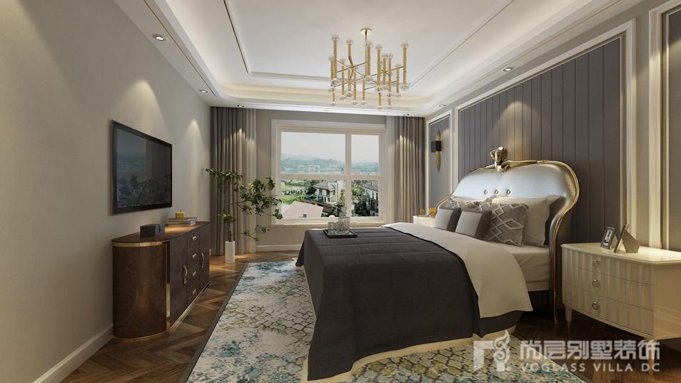 美式臥室 輕奢 夢幻