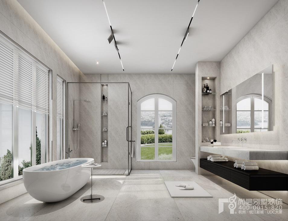现代风格别墅卫浴室