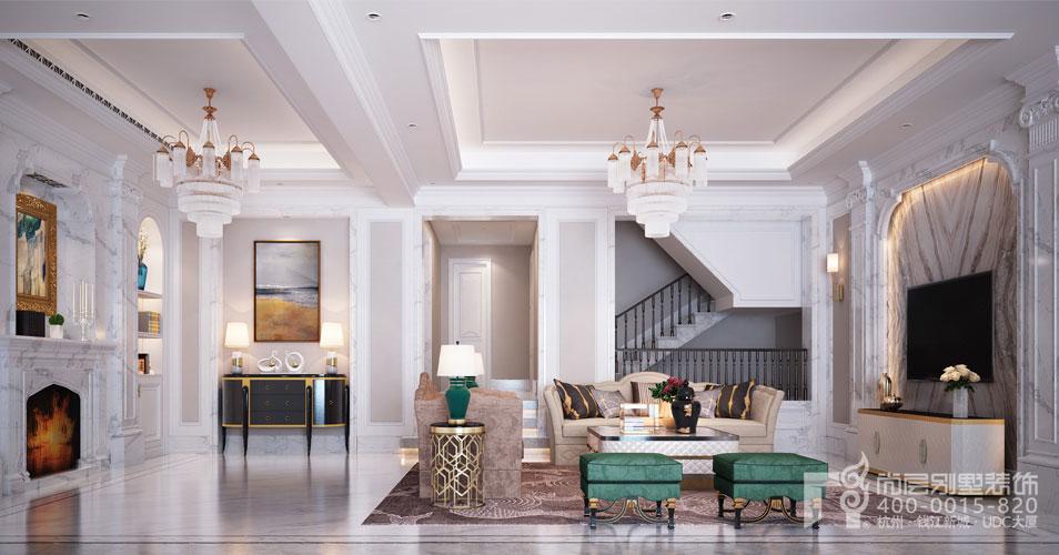 800方房子小美式风格客厅装修效果图