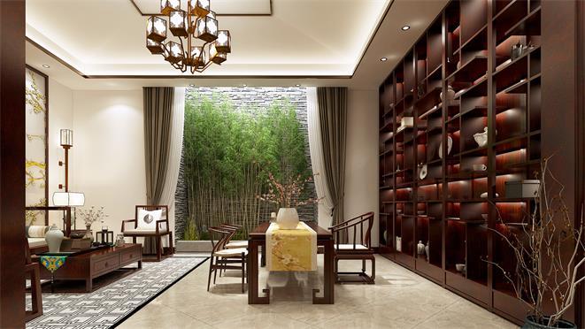 富力津门湖黛湖花园新中式风格装修图