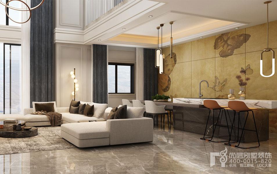 轻奢风格别墅设计效果图