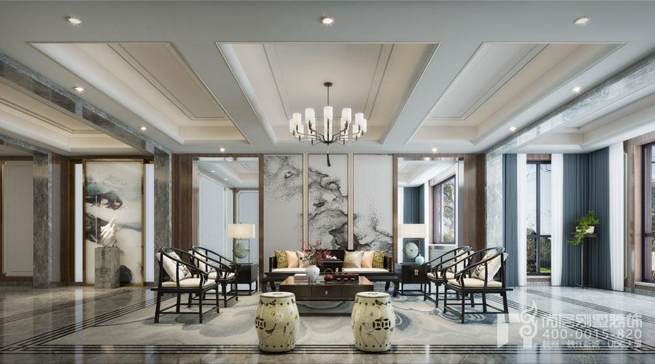 中式别墅会客厅