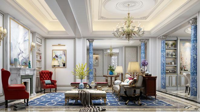 法式风格别墅设计案例