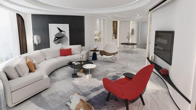 轻奢风格别墅设计案例