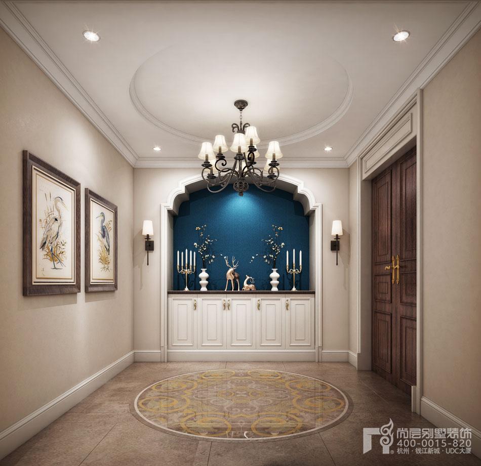 美式风格别墅门厅