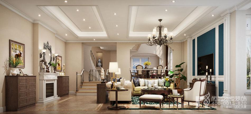 美式风格别墅客厅