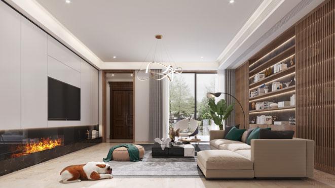 400方现代风格排屋装修设计