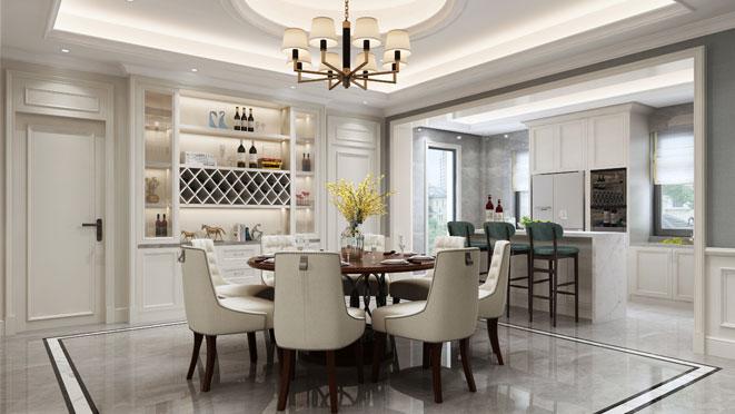 500方美式新中式混搭别墅装修
