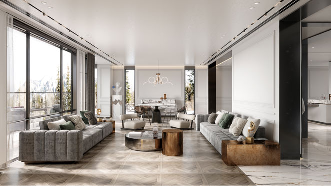 上林湖现代美式风格装修设计