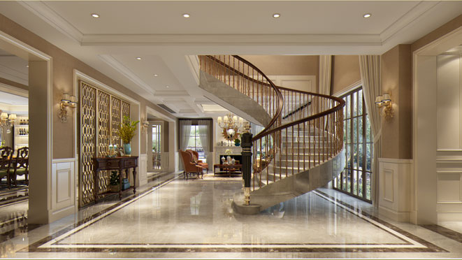 500方典雅美式古朴大宅装修