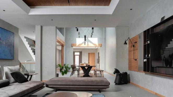 宁静、朴素、简约的清水混凝土室内风格