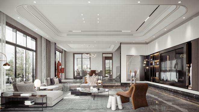 460现代轻奢风格别墅设计