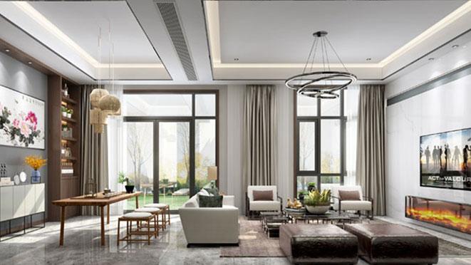 富春玫瑰园400平米新中式风格装修效果图
