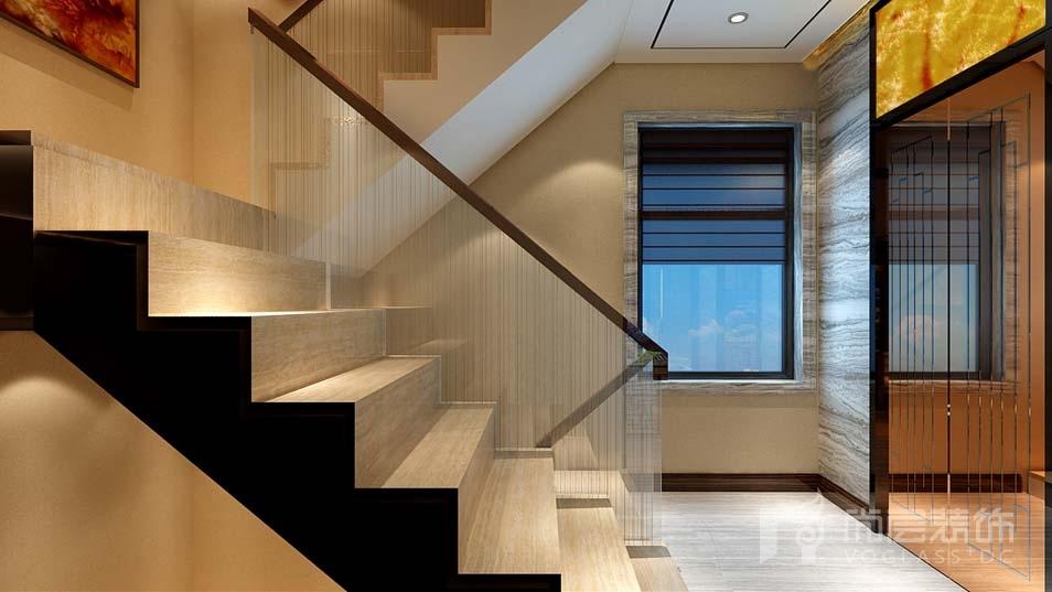 泉发花园现代楼梯间别墅装修效果图