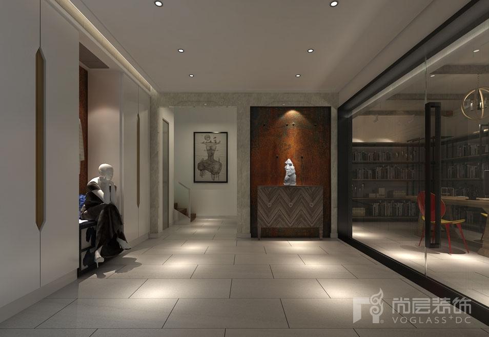 北京院子现代地下玄关别墅装修效果图