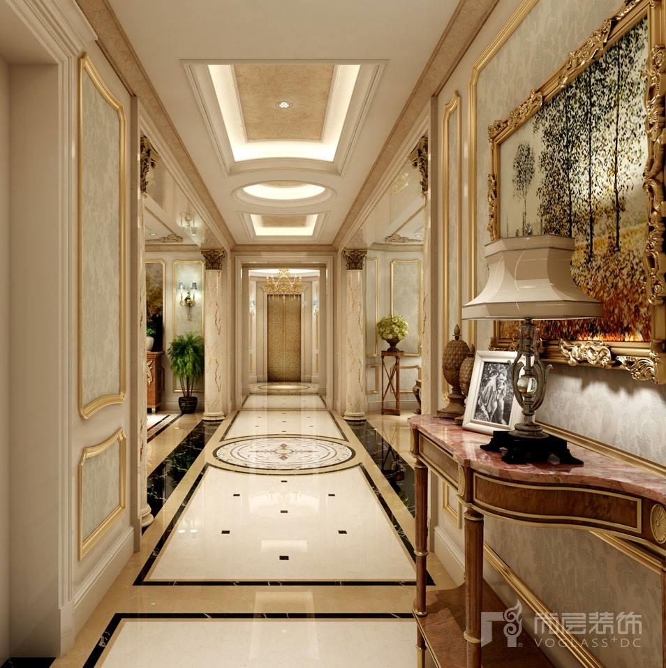 远洋天著法式新古典走廊别墅装修效果图