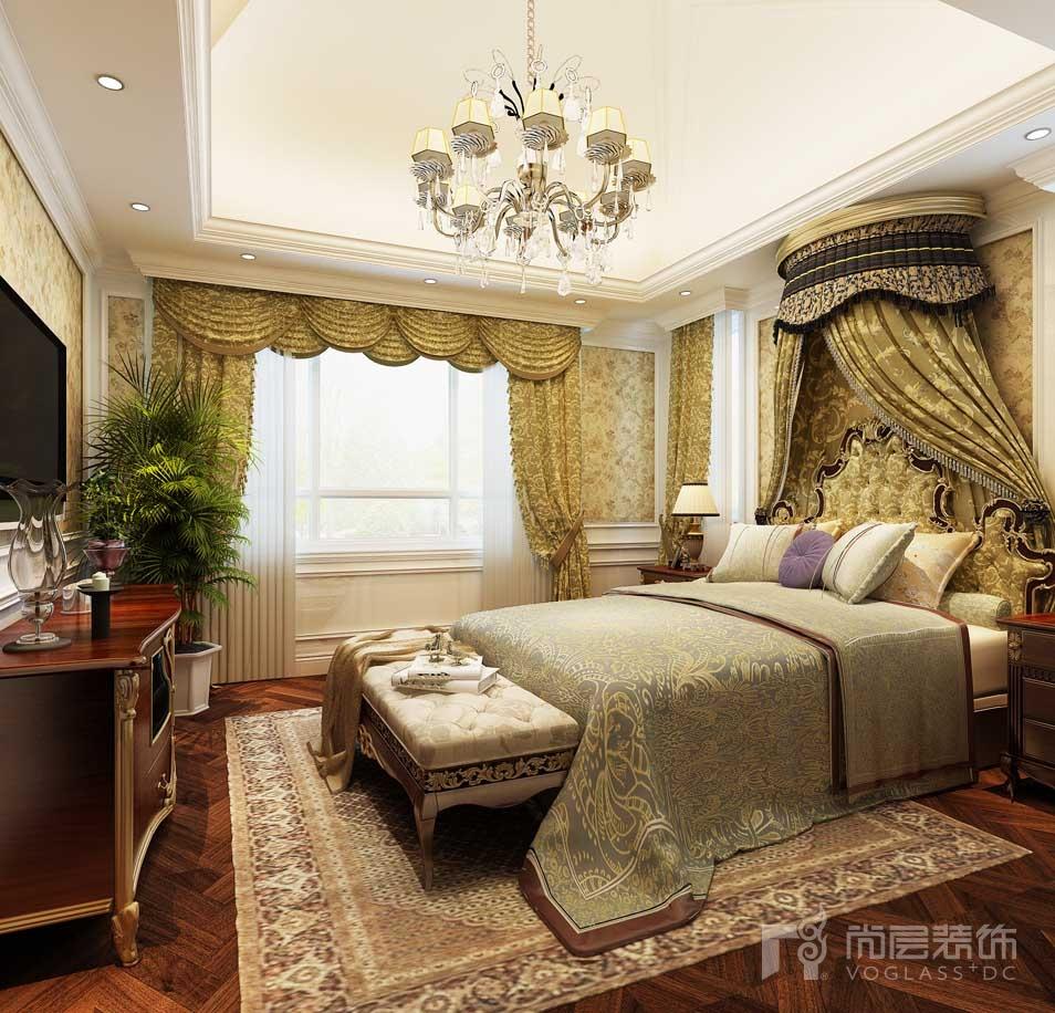 北京院子欧式主卧别墅装修效果图图片