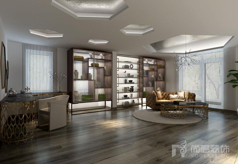 北京院子新中式三层首饰间别墅装修效果图