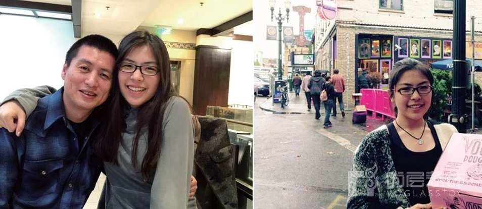 旭辉紫郡业主王先生与在美国留学的女儿