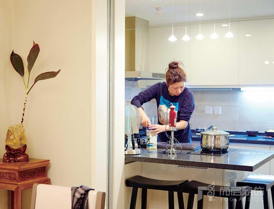 旭辉紫郡别墅装修女业主最爱的厨房