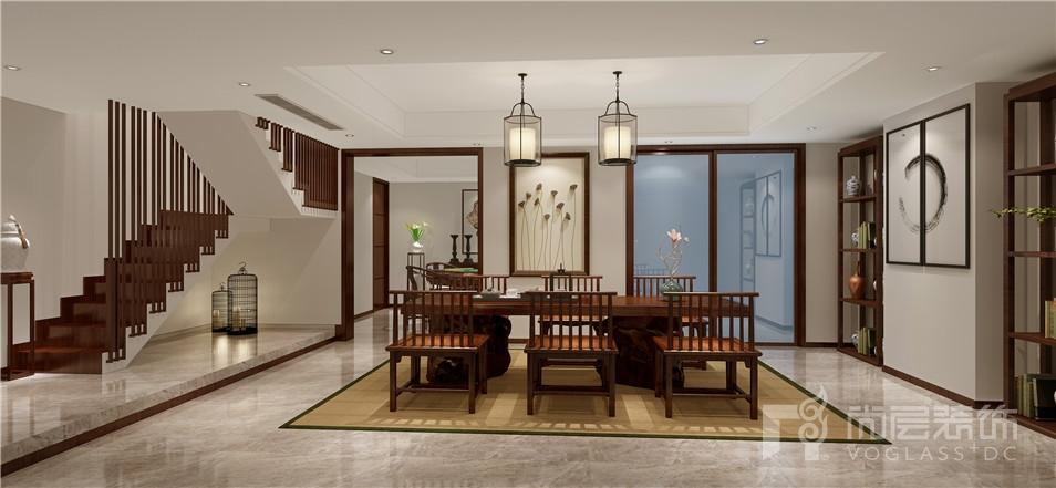 南悦豪庭中式风格餐厅效果图