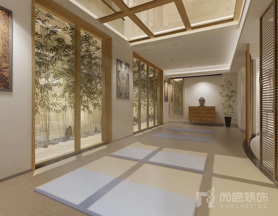 溪上玫瑰园别墅装修设计-现代极简风格-杭州尚层装饰