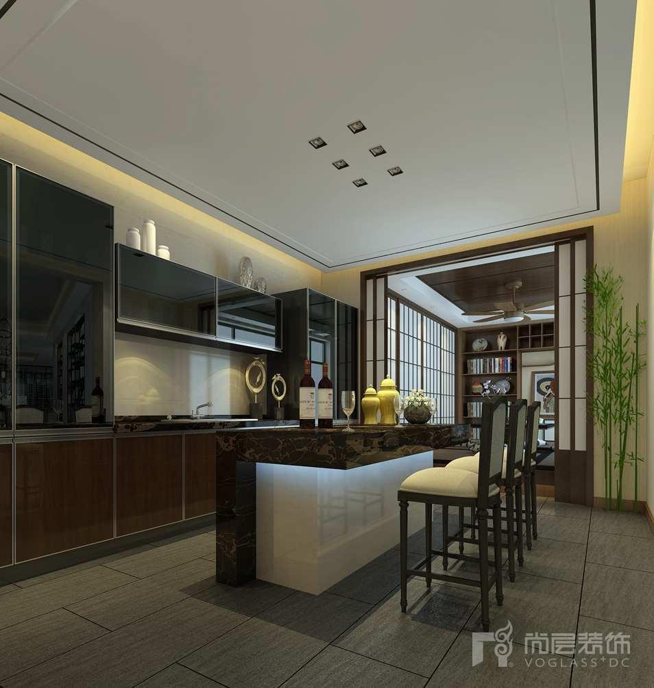 北京院子新中式榻榻米區別墅裝修效果圖