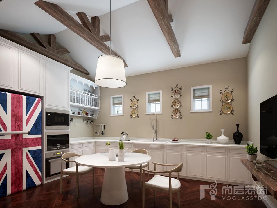 御汤山现代美式吧台别墅装修效果图图片
