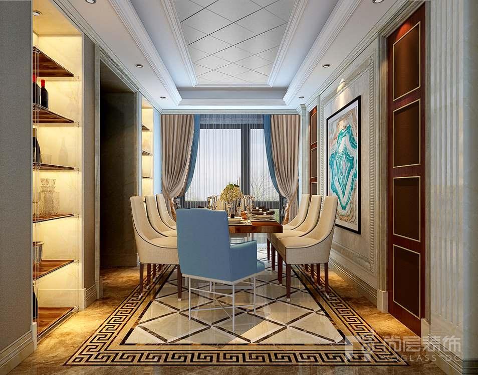 泛海国际现代美式餐厅别墅装修效果图图片