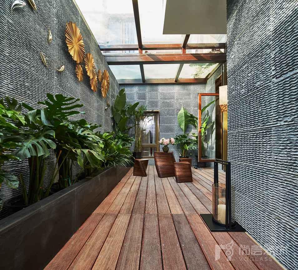新中式庭院木材设计