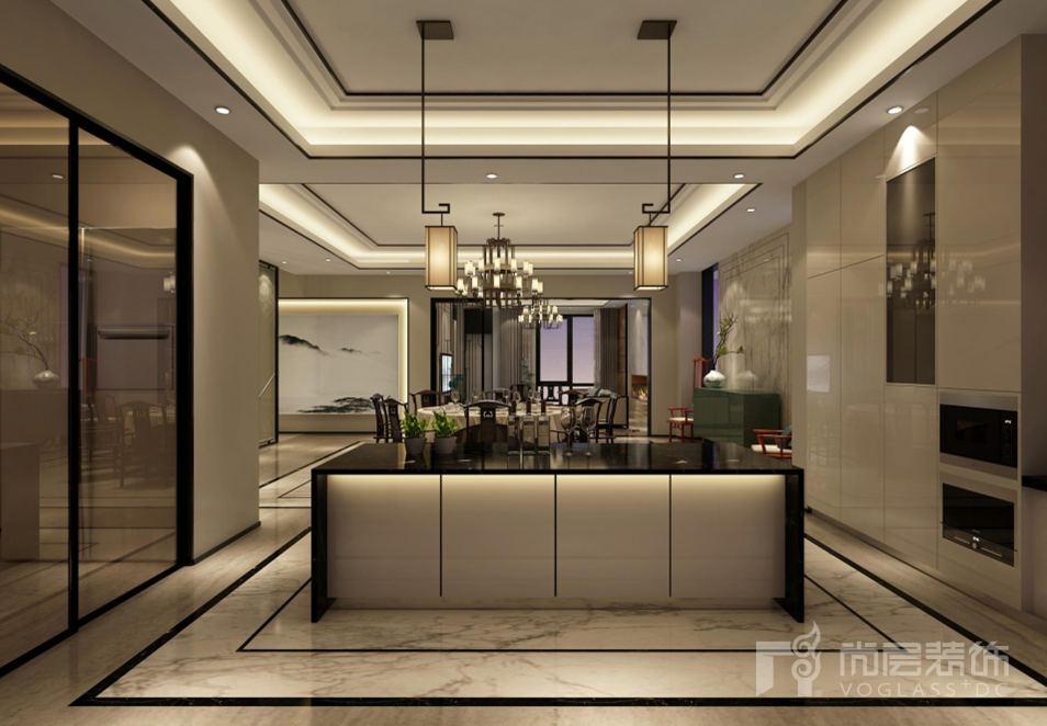 会展誉景新中式餐厅别墅装修效果图图片