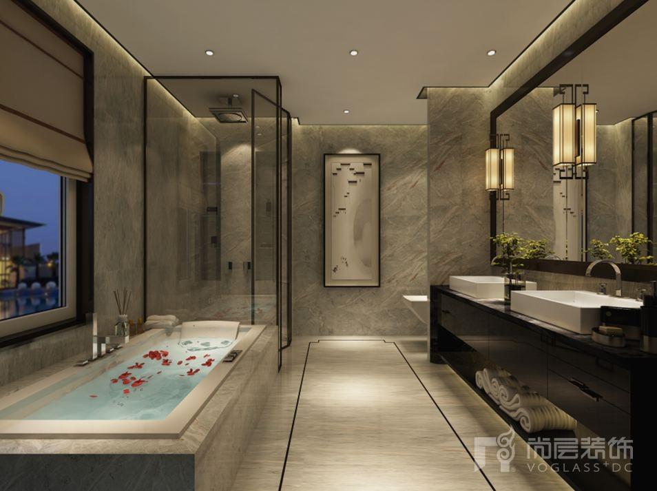 会展誉景新中式卫生间别墅装修效果图