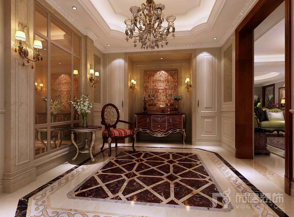 千章墅美式新古典门厅别墅装修效果图图片