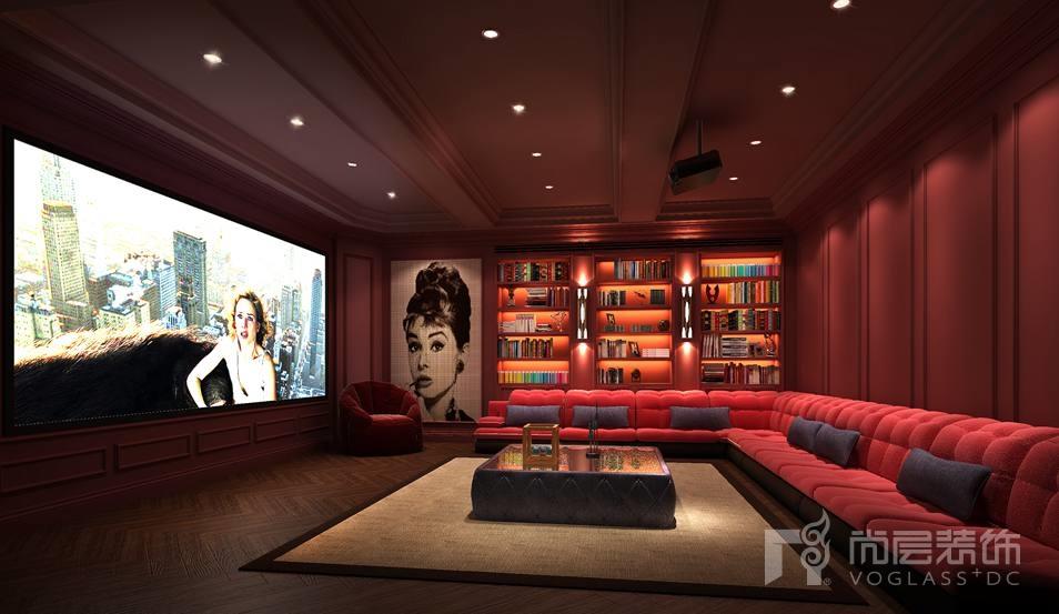 新世界丽樽混搭影音室别墅装修效果图图片