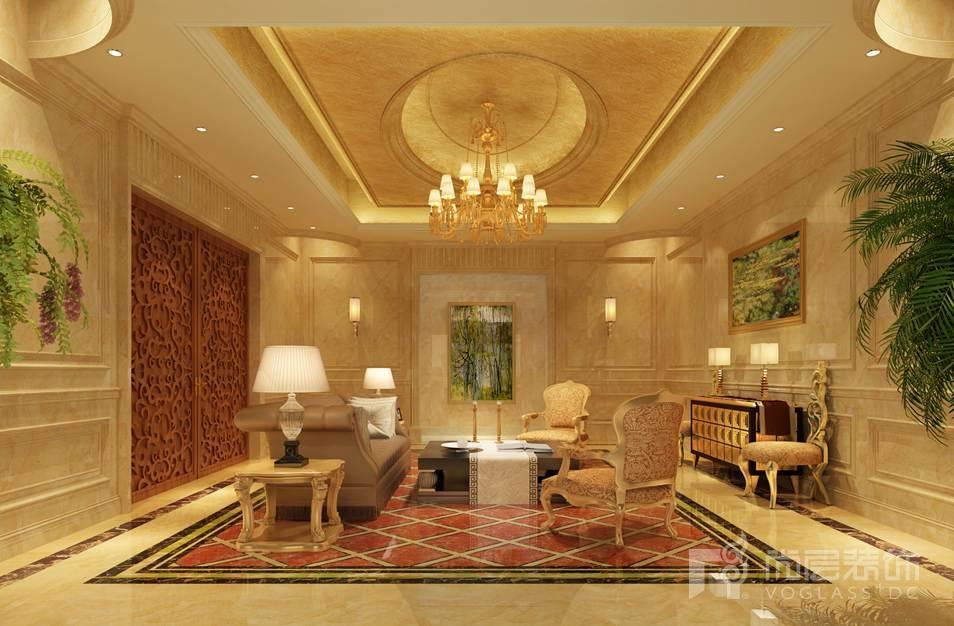 香山清琴欧式休闲厅别墅装修效果图图片