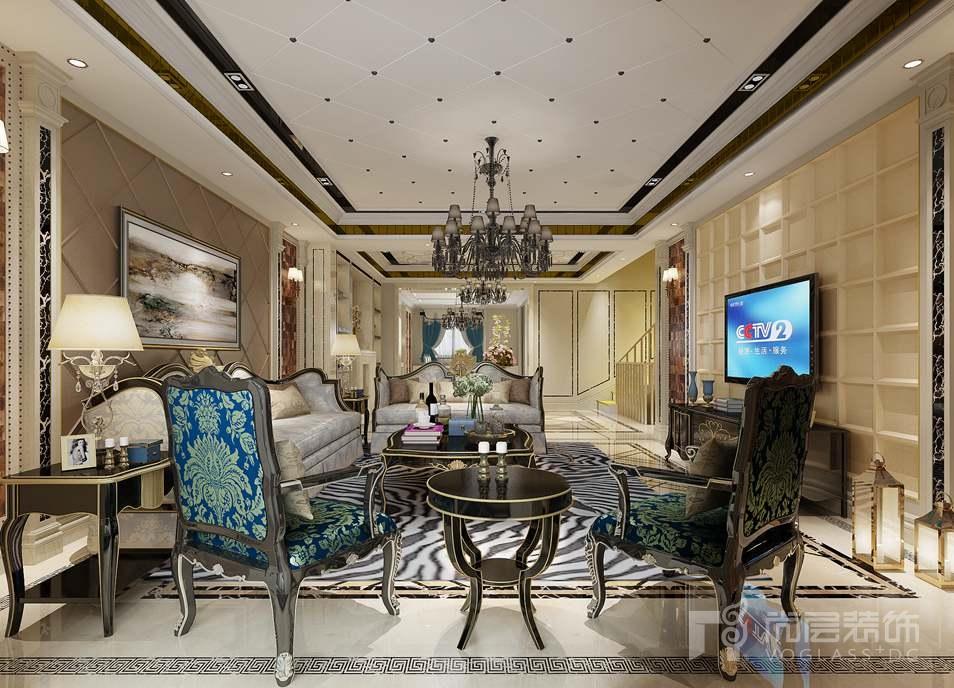 雙瓏原著新裝飾客廳別墅裝修效果圖