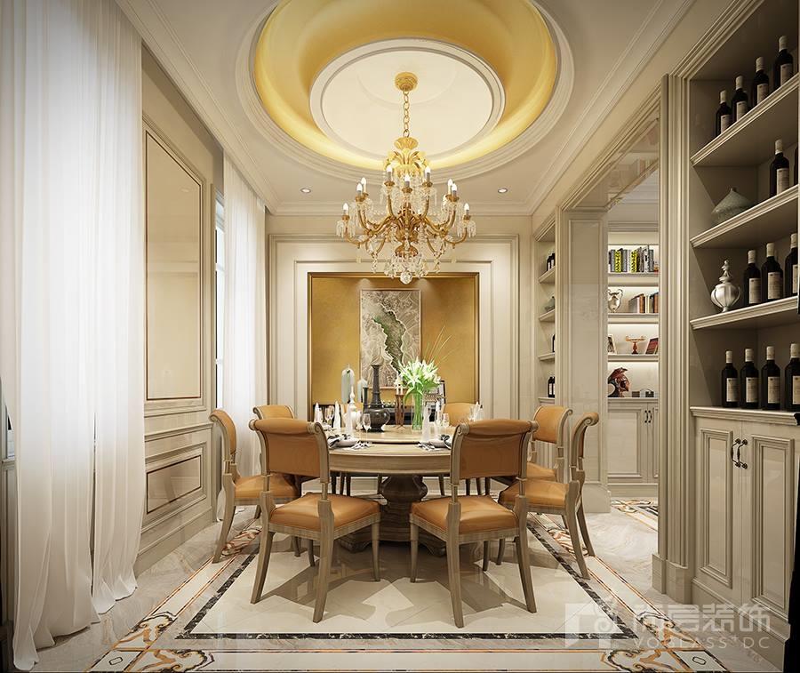 3层别墅装修设计-别墅装修案例效果图-杭州尚层装饰案例