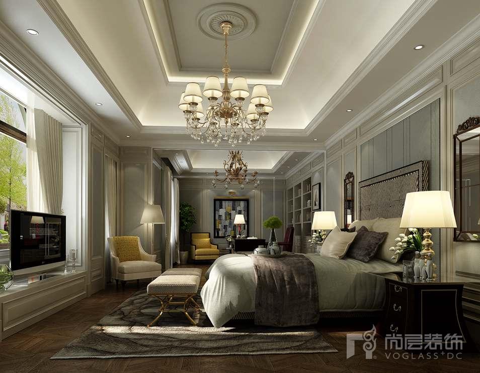 象牙白简约欧式客厅装修效果图